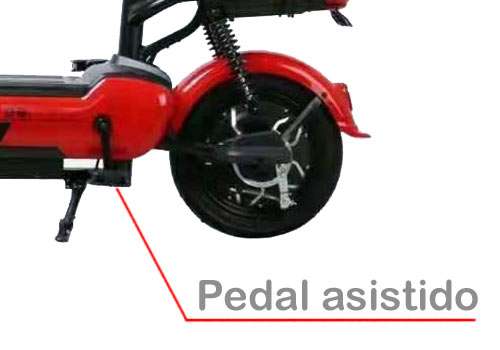 bicimoto eléctrica WHINSTHON Shang Xing con pedal asistido