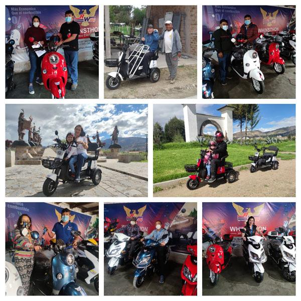 clientes de Motos eléctricas Whinsthon